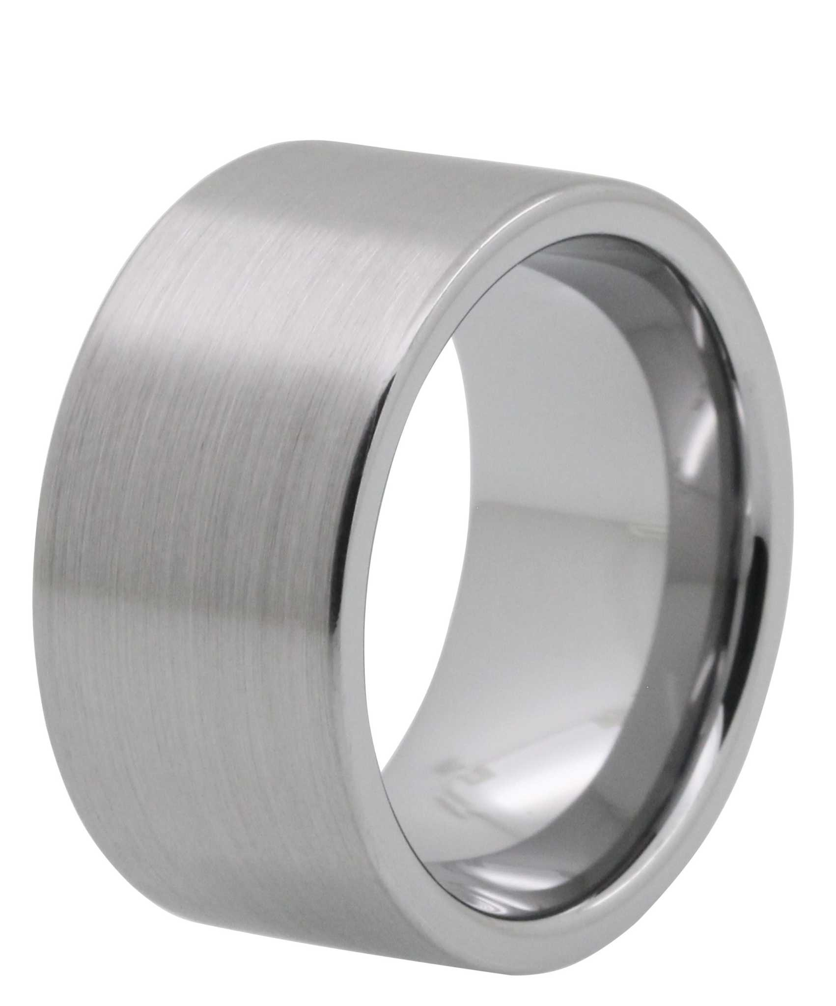 tungstenrings tungsten carbide wedding band 12MM Brushed Tayloright Tungsten Carbide Ring