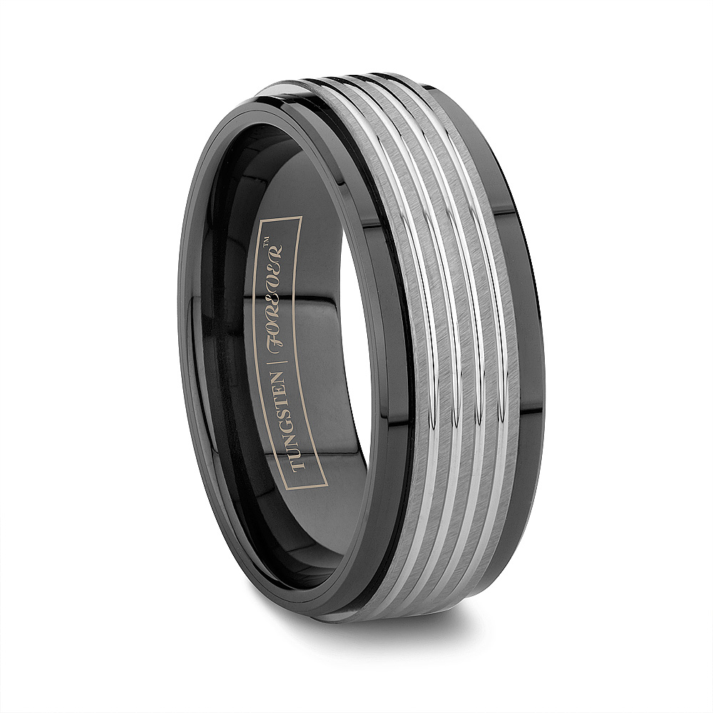 Ceramic Wedding Bands Tungsten Counterpart gold tungsten wedding bands
