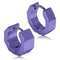 2 Creole Earrings Huggie Hoop Sleeper Earrings unisex ...