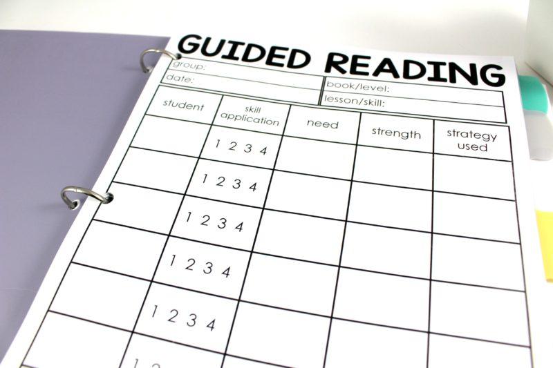 Guided Reading Teacher Binder - Tunstall\u0027s Teaching Tidbits
