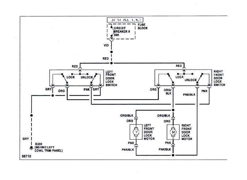 silverado power lock schematic
