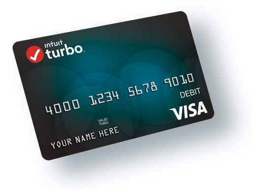 Tax Refund Prepaid Visa Card TurboTax Intuit - card