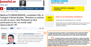 Florian Bodog, Jurnalul National si Blog