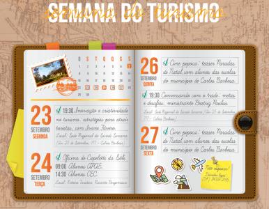Semana do Turismo com programação nos dias 23, 24, 26 e 27 de setembro