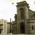 Igreja atual ainda sem a torre, e salão paroquial.