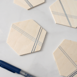 DIY Geometric Coasters with BIC Merry Marking