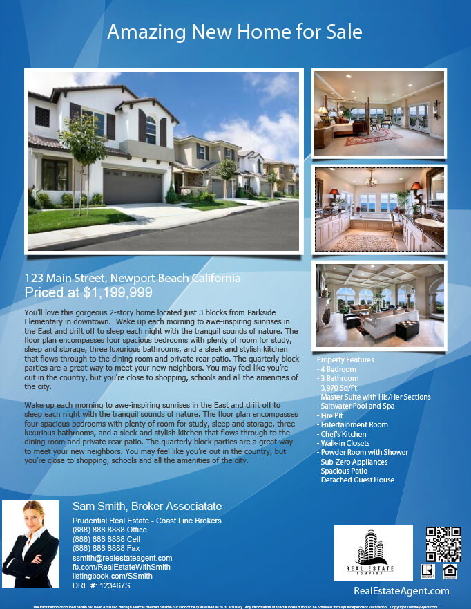 how to make a real estate flyer for free
