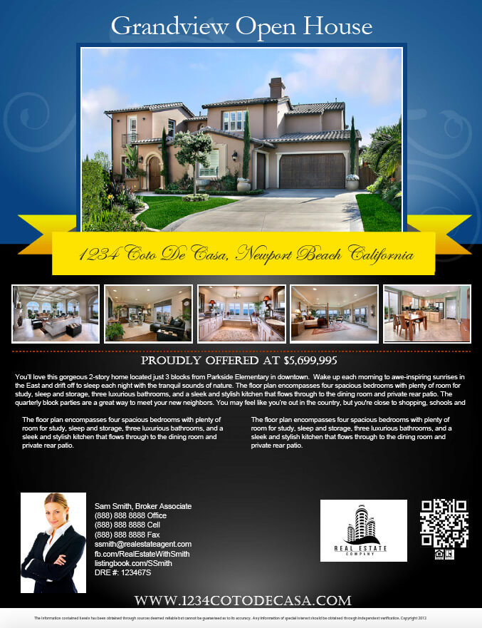 Real estate open house flyer template amitdhull real estate open house flyer template open house flyer templates eliolera com real estate pronofoot35fo Gallery