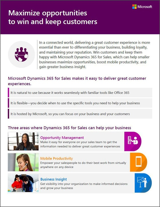 Microsoft Dynamics 365 for Sales - Download the Brochure