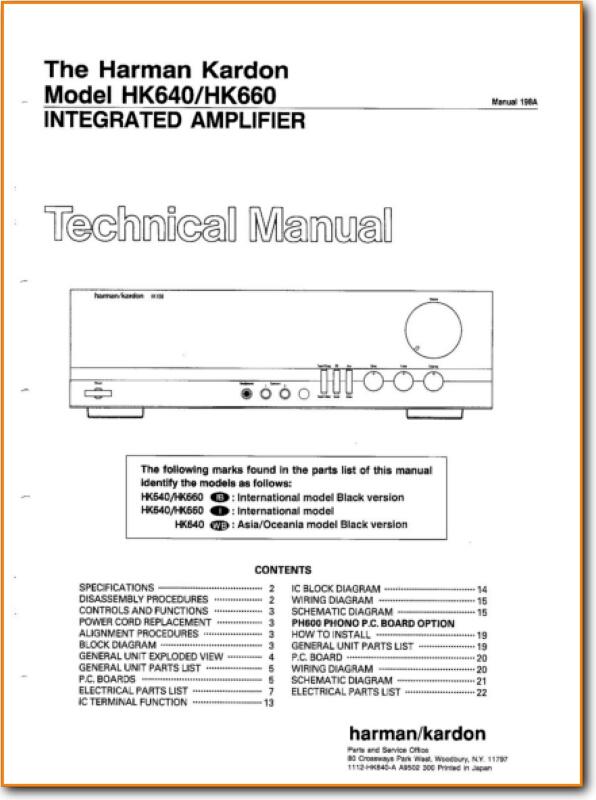 Harmon Kardon HK-640 Solid State Amp Receiver - On Demand PDF
