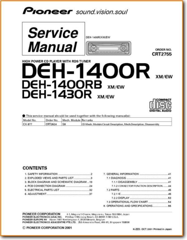 Collection Pioneer Deh 1400 Wiring Diagram Pictures Diagrams - 18