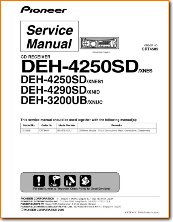 Pioneer DEH-3200-UB Automotive Audio - On Demand PDF Download English