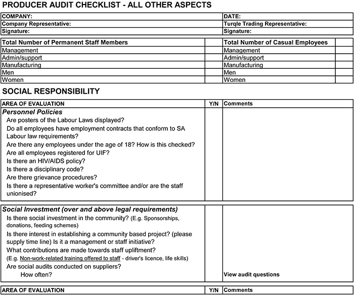 Supplier Audit Checklist Template Vendor Audit Checklist Iso