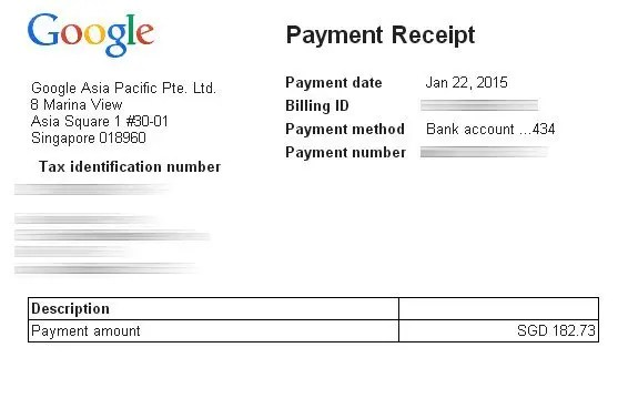 Google Adsense Payment Receipt 2015 Turtle Investor - More Than