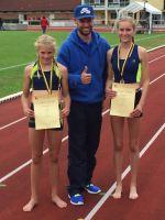 Björn mit seinen erfolgreichen Athletinnen