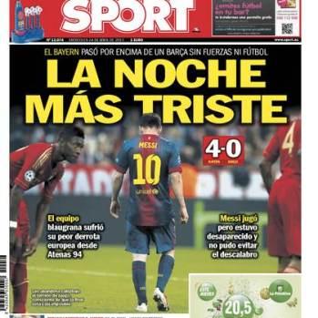 Portada-Sport Bayern-Barcelona-24-4-2013