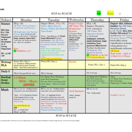 Weekly Lesson Plan Templates \u2013 Tutor and Teacher Templates - weekly lesson plan template