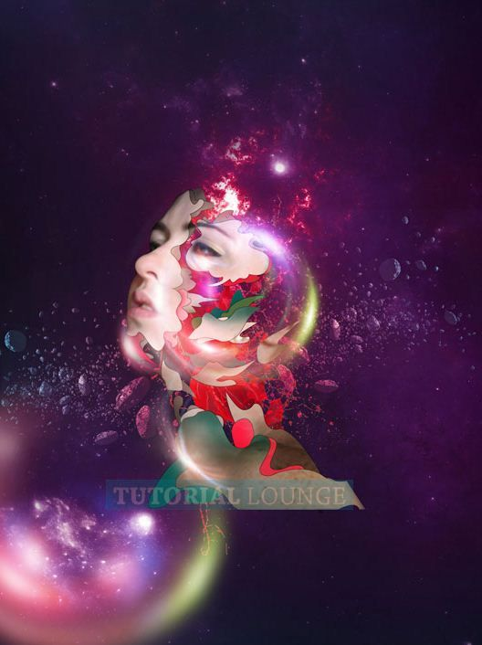 I Am Bad Girl Wallpapers Create A Abstract Space Girl Photo Manipulation Using