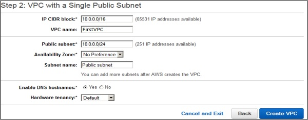 Amazon Web Services Virtual Private Cloud