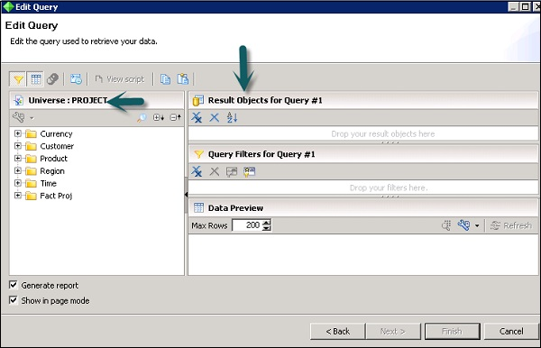 Crystal Reports Creating Queries - how to create a report