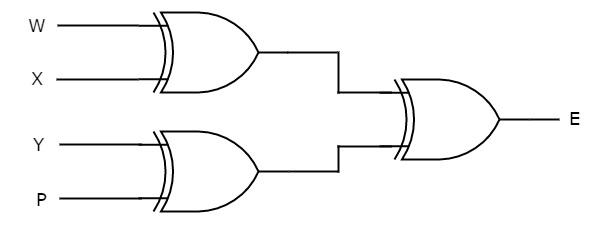 circuit diagram for 3 bit parity generator