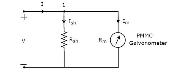 dc ammeter circuit diagram
