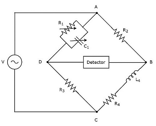 inductance bridge circuit diagram simple inductance bridge circuit
