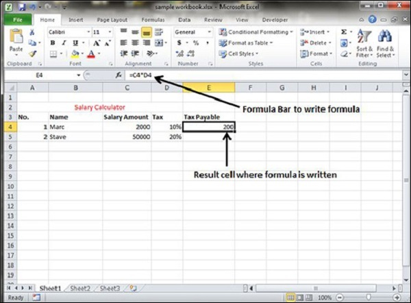 Creating Formulas in Excel 2010 - creating formulas in excel