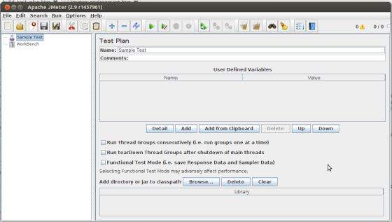 jMeter Web Test Plan