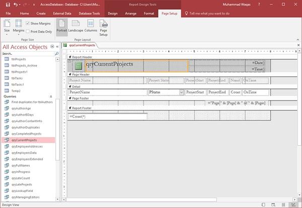 MS Access Reports Basics
