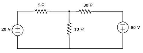 example find the currents in the circuit for the following network