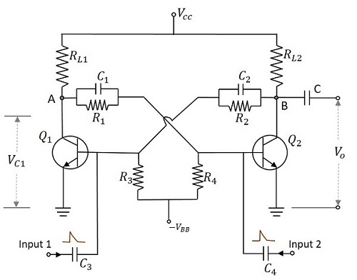 multivibrators including monostable astable and bistable