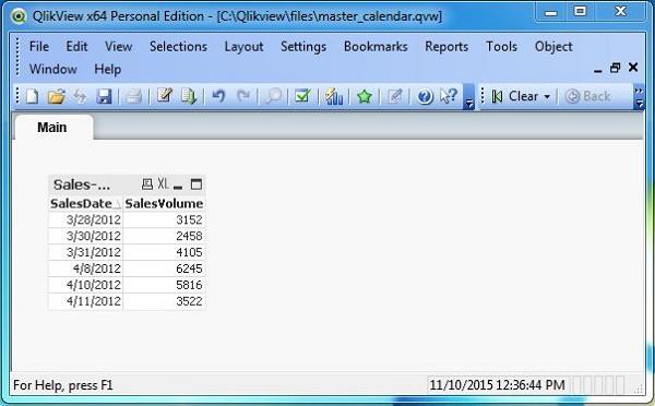 Create Calendar Qlikview | Short Timer Calendar Excel