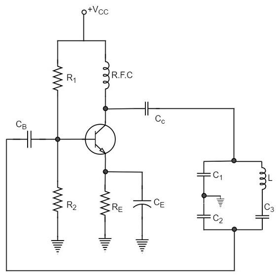 circuit diagram of transistor as an oscillator