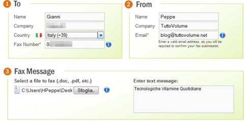 invia fax gratis