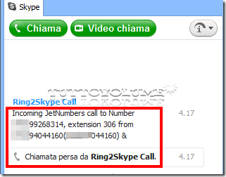 Ring2Skype call