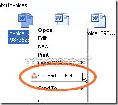 Smart PDF menu contestuale
