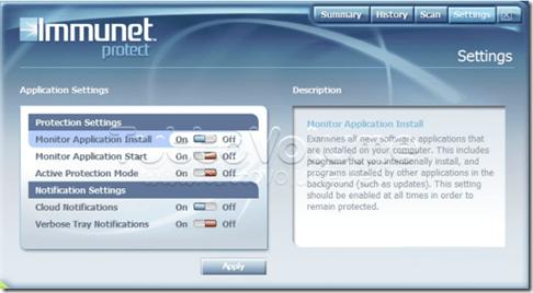 immunet protect cloud antivirus scan