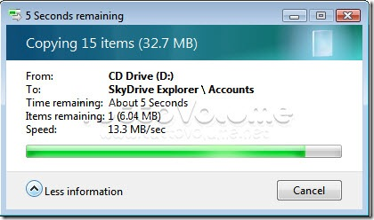 Copia file da SkyDrive