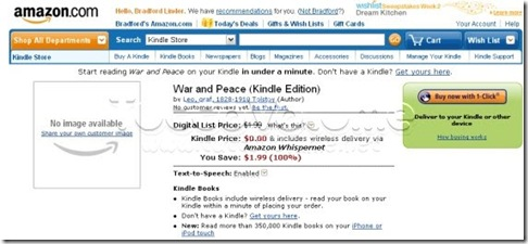 Kindle ebook store
