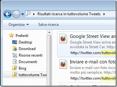 Preferiti - Connettori Federated Search