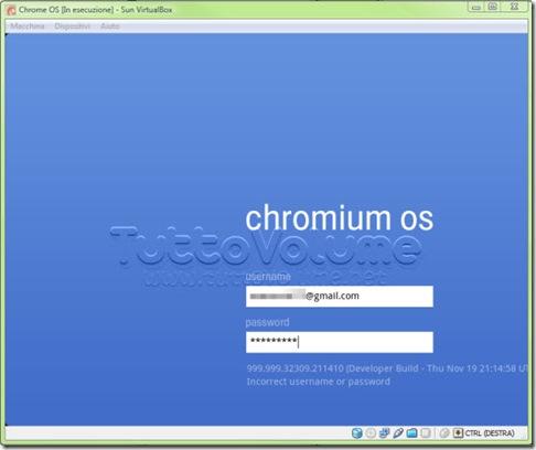 Chrome OS Login