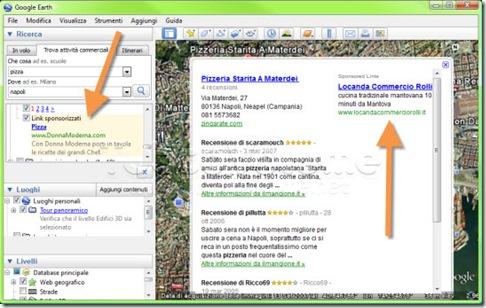 Google Earth annunci AdSense