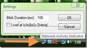 Network Activity Indicator for Windows