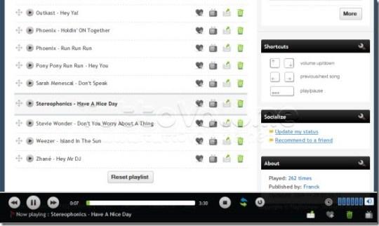 PlayListNow Riproduzione Playlist