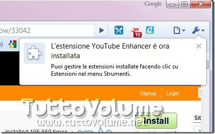 Userscript installato