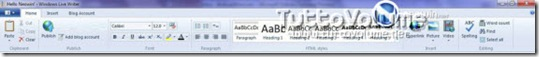 Windows Live Writer Ribbon 2010