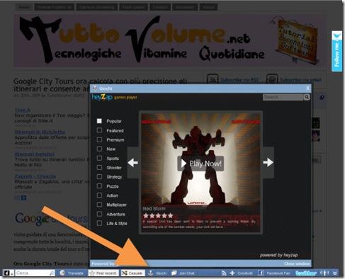 toolbar Wibiya giochi heyzap