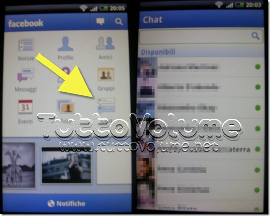 Facebook per Android 1.5