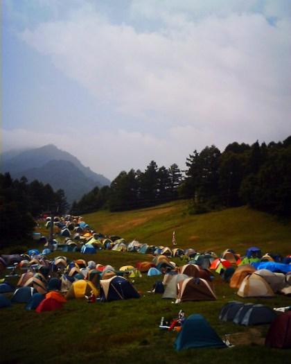 Fuji Rock Festival Camping
